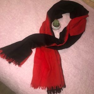 Accessories - Red and black oversized scarf